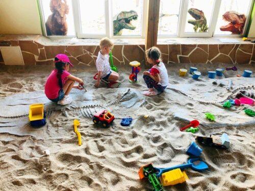 Раскопки юных палеонтологов в Юркин парке